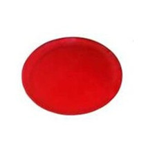 Red 12 Inch Plastic Party Trays/Set of 25 - $57.74