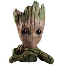 New Baby Groot Flowerpot Planter Action Figures Man Cute Pen Model C - $6.50