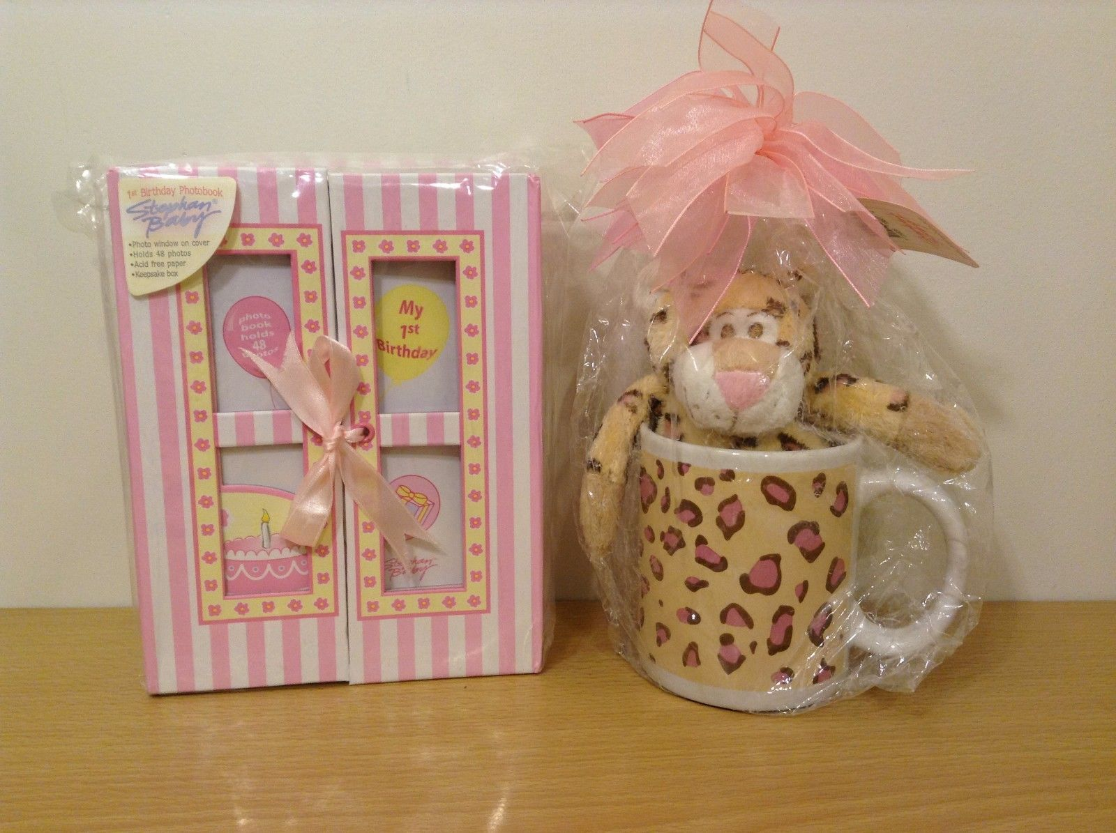 Stephan Baby 1st Birthday Gift Set For Baby Girl And Mom Mug and Plush Toy NWT