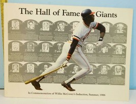 1986 The Hall of Fame Giants Commemoration of Willie McCovey's Induction - $8.86