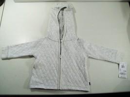 New Boy's Oshkosh Baby B'gosh Zippered Hooded Jacket Size 3-6 Months Light Gray - $18.57