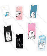 Middle Finger Cute Cat Cellphone Case For iPhone 7 Mobile Phone Cover Skins - $2.59