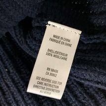Theyskens Theory Sweater Vest Wool Navy Blue Women Sz S image 4