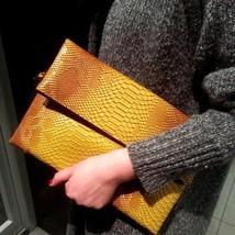 Fashion Women Clutch Bag Serpentine Snake Skin Messenger Crossbody Eveni... - €33,73 EUR
