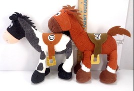 Lot Of 2 Toy Story Race Horse # 6 Plus 7 Brown And Pinto Disney Plush St... - $15.83