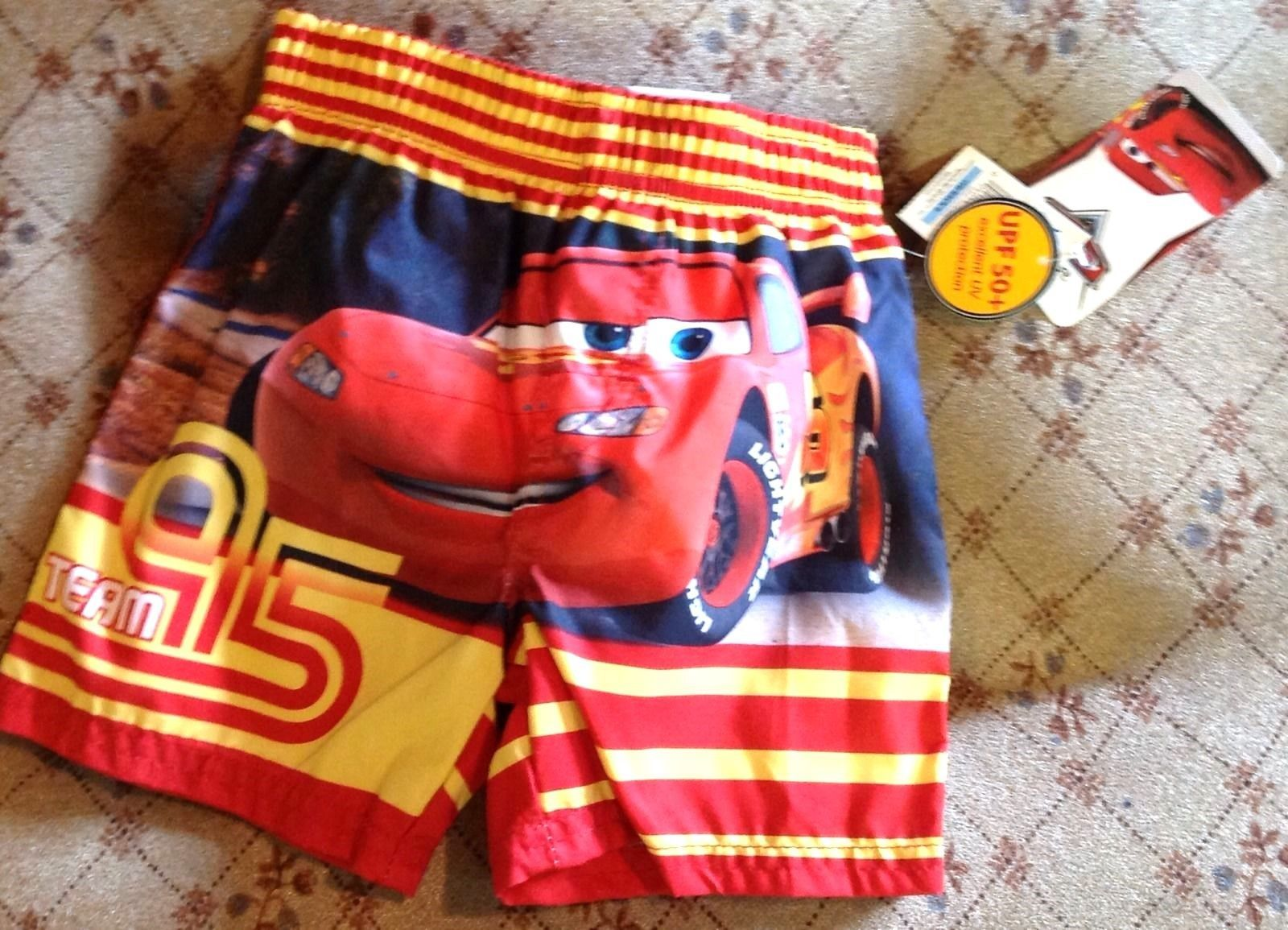 Disney Cars Boys 12 Month Swim Trunks Lightning McQueen UPF 50+ NEW
