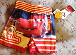 Disney Cars Boys 12 Month Swim Trunks Lightning McQueen UPF 50+ NEW - $9.90