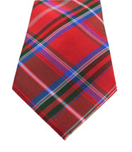 NEW MENS TOMMY HILFIGER MCCULLY PLAID RED SILK NECK TIE $65 - $24.74