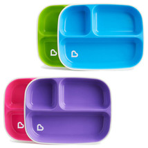 Munchkin Splash Divider Plates 4Pk Pink And Purple Green And Blue - $48.19