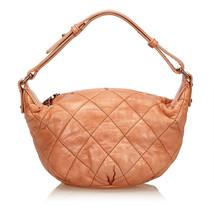 Pre-Loved Chanel Orange Others Leather Matelasse Surpique Handbag Italy - $585.54