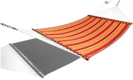 New Strathwood Basics Quilted Fabric Hammock Red Stripe 55''W  13'ft L - $49.49