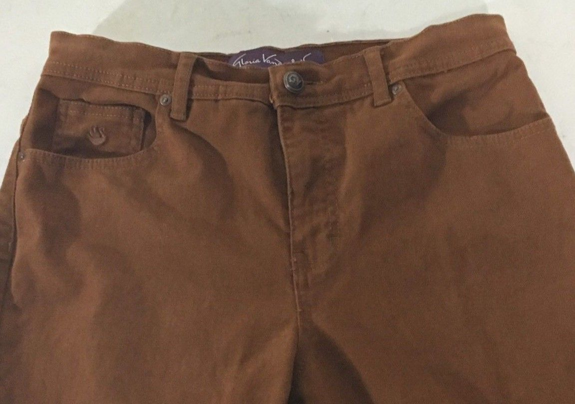 Women's Jeans Brown Rust Burnt Sienna Size 6 Gloria Vanderbilt Amanda