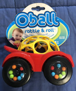 OBall Rattle and Roll Car Yellow & Red New w/Tag - $4.45