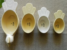 TNT Designs Nesting Chicken Measuring Cups Yellow White 2005 - $27.70