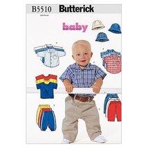 Butterick Patterns B5510 Infants' Shirt, T-Shirt, Pants and Hat, Size L-XL - $14.70