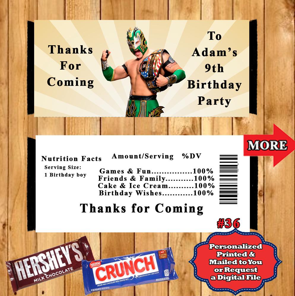 WWE Wrestling Birthday Hershey Candy Bar and 45 similar items