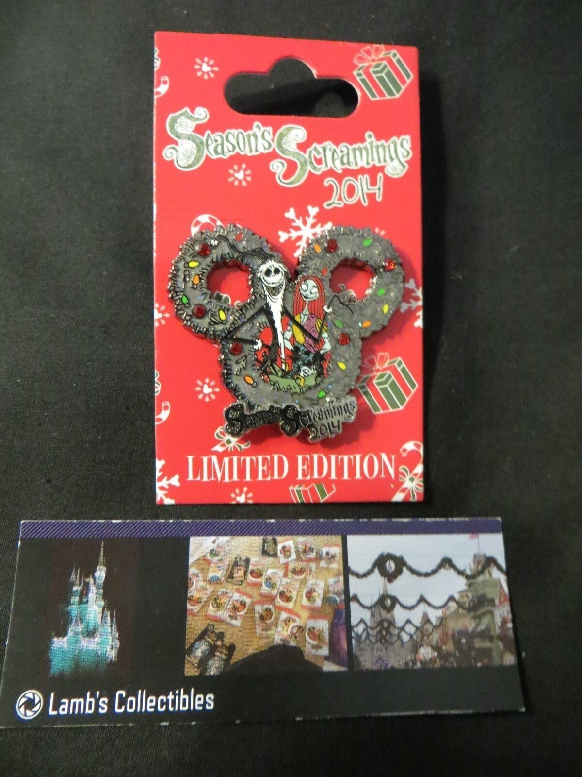 Primary image for Seasons Screaming's Jack Skellington Sally LE 3500 WDW 2014 Disney Pin Christmas