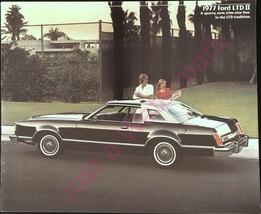 Vintage Color Showroom Brochure 1977 Ford LTD II A Sporty New Trim Size - $19.55