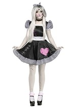 Fun World Costumes Women's Broken Doll Adult Costume, Black/White, Medium/Large - $44.53