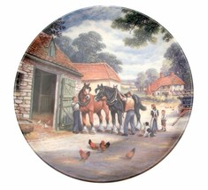 At The Stables The Village Shires Stan Mitchell Horse Plate Collector Plate - $38.24