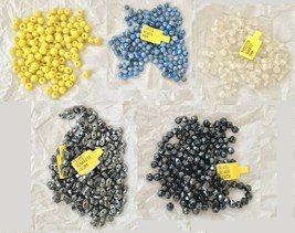 LOT: Lapis Blue Yellow Black Czech Glass Hematite Quartz Loose Beads Bea... - $19.79