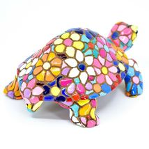 Barcino Hand Painted Limited Edition Flower Mosaic Turtle Tortoise Figure 54058 image 3