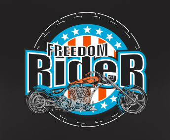 Motorcycle Freedom Rider Skull Style Graphic T Shirt Black Red White L XL 2XL