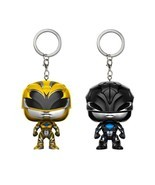 Funko Pocket Pop Keychain: Black Ranger - Yellow Ranger Vinyl Action Fig... - £3.89 GBP