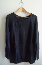 The Limited Stitched Pointelle Tunic Sweater 100% Acrylic, Black, Size M... - $20.77