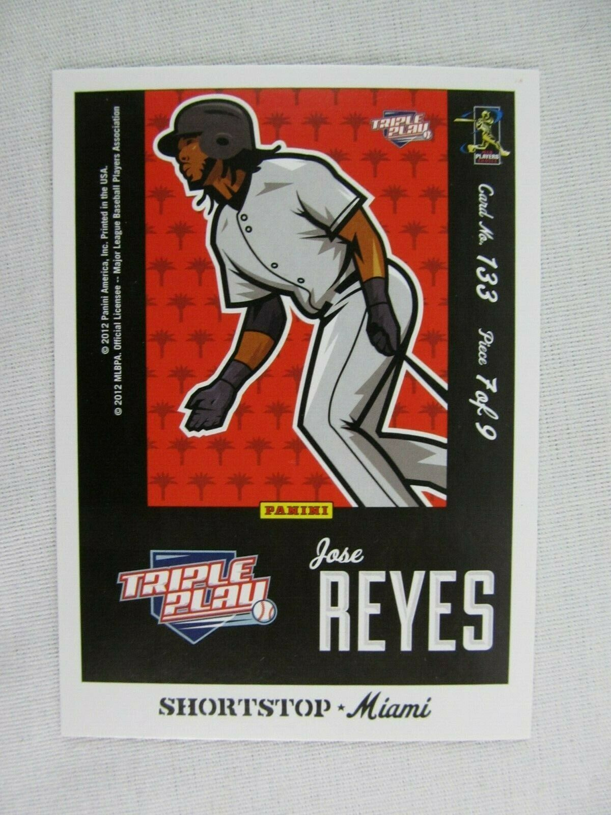 Primary image for Jose Reyes Miami Marlins 2012 Panini Puzzle Baseball Card 133
