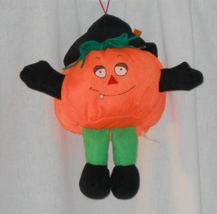 Stuffed Halloween Jack-o-lantern Pumpkin Plush Toy With Suction Cup - £2.68 GBP
