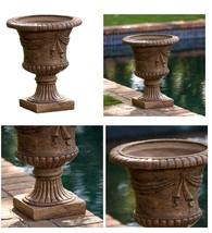 Outside Flower Urn Planter Brown Pots Garden Indoor Outdoor Balcony Deck... - $107.55 CAD