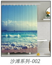2017 Custom Bath Curtain beach summer ocean sky sea nature Fabric Modern Shower  - $32.75