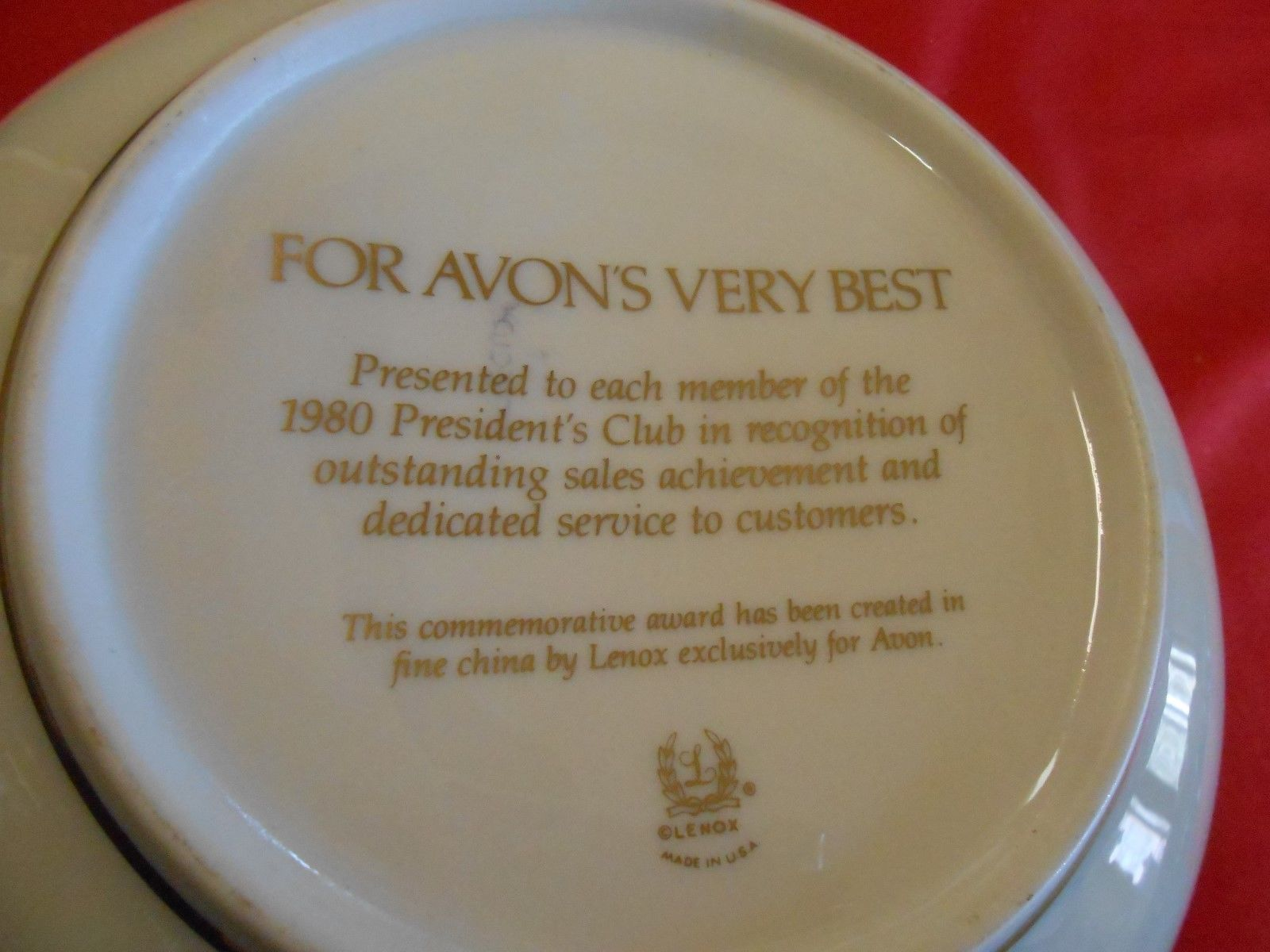 """RARE Magnificent Vintage LENOX  """"For AVONs Very Best PRESIDENT CLUB 1980-3 BOWLS"""