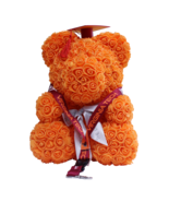 Graduation Orange Rose Bear Cap & Tassel w/ FREE Virginia Tech Lanyard V... - $158.39