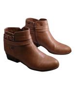 Liz Claiborne Posh Ankle Booties Size 8.5 Medium Taupe Zippered Original... - £39.06 GBP