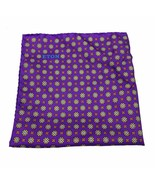 Eton Purple Floral Medallion Pocket Square MSRP $65 - $29.69