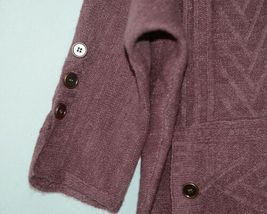 Simply Noelle Brand JCKT222SM Knitted Mauve Women's Zipper Jacket Size Small image 5
