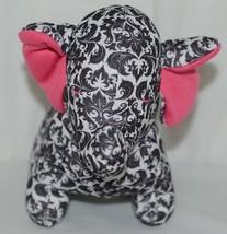Baby Ganz Brand BG3192 Pink And Black Ooh La La Plush Filigree Elephant image 2