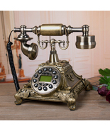 Beautiful Vintage European Style Antique Rotary Metal Dial Telephone ! - $139.95