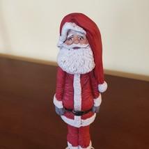 "Santa Figurine, Tall Skinny Santa Claus, Vintage Christmas Decor, Ceramic 9"" image 5"