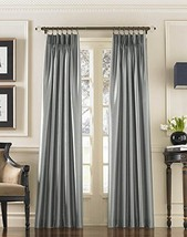 "Curtainworks Marquee Faux Silk Pinch Pleat Curtain Panel, 30 by 132"", Pe... - $26.11"