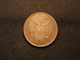 Austria Empire half day pay coin, Robot coin, imperial eagle 1830-1890 c... - $53.00
