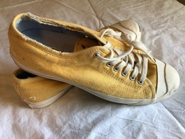 Converse Jack Parcell Low Top Shoes Size 10.5 Yellow - $27.83