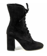 Versace Women's High Heels Boots Camo Scio Nero short, black suede, new 5 - $249.99