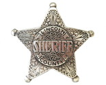 Old west Badges Sheriff lincoln county