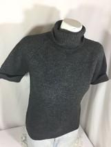 Abercrombie & fitch Porpoise Gray Short Sleeve Cowl Neckline Size M Comfy Bin4#2 - $14.95
