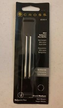 Pack of 2 Cross Mini Ballpoint Pen Refills 8518-4, Black Medium - $9.99