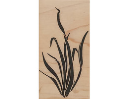 Mostly Animals Aquarium Grass Wood Mounted Rubber Stamp image 1