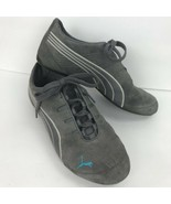 Puma V2 Comfort Gray Womens Walking Hiking Exercise Shoes 7.5 Suede Lace Up - $49.49